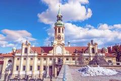 Loreta назначение паломничества в Hradcany, Праге, чехословакской стоковая фотография