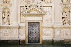 Loreta church old door in Prague, Czech. Loreta church old architecture in Prague, Czech Stock Images