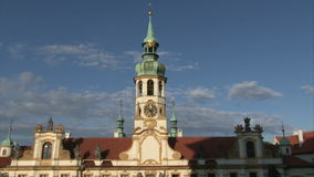 Loreta church in Prague stock footage