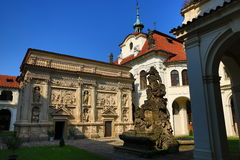 Loreta is a large pilgrimage destination in Hradčany, a district of Prague, Czech Republic Stock Photo