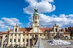 Loreta is a pilgrimage destination in Hradcany, Prague, Czech re. Public. Religious architecture Stock Photography