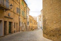 Loreto Ancona, Italien - 8 05 2018: Fristad av Santa Casa, absid av basilikan i Loreto, Italien Fotografering för Bildbyråer