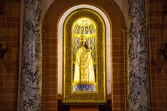 Loreto Ancona, Italien - 8 05 2018: Statu basilika av Santa Casa i Loreto, Italien Arkivbilder