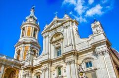 Loreto church Basilica Della Santa Casa Ancona Marche region Italy royalty free stock photos