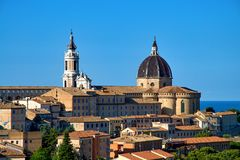 Loreto - Italy. Santuario della Santa Casa. Loreto province Ancona, region Marche - Italy royalty free stock photos