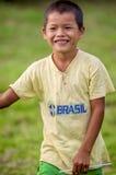 LORETO, PERU - JANUARY 02: Unidentified local kids posing for ca Royalty Free Stock Photography