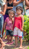 LORETO, PERU - JANUARY 02: Unidentified local kids posing for ca Royalty Free Stock Photography