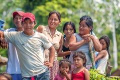 LORETO, PERU - JANUARY 02: Unidentified locals posing for camera Stock Photos