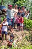 LORETO PERU, STYCZEŃ, - 02: Niezidentyfikowani miejscowi pozuje dla kamery Zdjęcie Stock