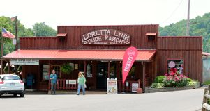 Loretta Lynn Dude Ranch General Store, Hurricane Mills Tennessee. Loretta Lynn Dude Ranch General Store in Hurricane Mills, Tennessee. Loretta Lynn (née Webb royalty free stock photography