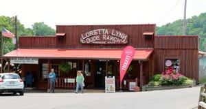 Loretta Lynn Dude Ranch Ogólny sklep, Huragan Mleje Tennessee Fotografia Royalty Free