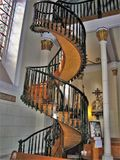 Loretto Chapel Miraculous Staircase in Santa Fe, New Mexico stock photo