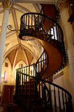 Loretto Chapel Staircase. View from the back of Loretto Chapel's miraculous staircase, Santa Fe, New Mexico Royalty Free Stock Photography