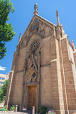 Loretto kapell i i stadens centrum Santa Fe New Mexico Royaltyfria Foton