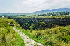 Lori Berd Fortress Path stockfoto