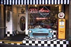 San Francisco, California, United States - circa 2016 - Lori`s Diner retro nostalgic cafe restaurant royalty free stock images
