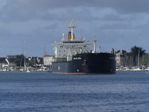 Tanker Ship under maneuvering operations Stock Photo