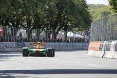 Lorina McLaughlin in einem Formel 1-Rennwagen Benneton B1992 lizenzfreie stockfotos