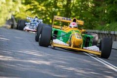 Lorina McLaughlin in einer Formel 1 Benneton B1992 lizenzfreies stockbild