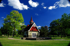 Loring Park Hut. A Hut in Loring Park in Minneapolis, Minnesota royalty free stock photography