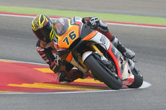 Loris BAZ Μπροστινός αγώνας Grand Prix Movistar Aragà ³ ν MotoGP Στοκ Φωτογραφίες