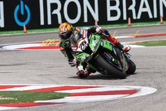 Loris Baz #76 on Kawasaki ZX-10R Kawasaki Racing Team Superbike WSBK stock image