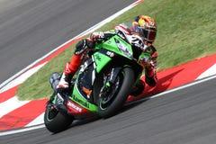 Loris Baz #76 on Kawasaki ZX-10R Kawasaki Racing Team Superbike WSBK Stock Photo