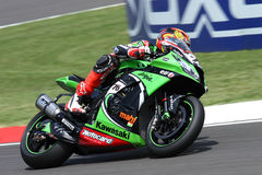 Loris Baz #76 on Kawasaki ZX-10R Kawasaki Racing Team Superbike WSBK stock images