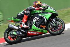 Loris Baz #76 su Kawasaki ZX-10R Kawasaki Racing Team Superbike WSBK Fotografia Stock Libera da Diritti