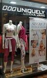 Lorna Jane sklepu detalicznego nadokienny pokaz Zdjęcia Royalty Free
