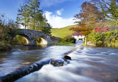 Lorne Doone. Cottage ay Malmsmead Exmoor in Autumn Royalty Free Stock Photography