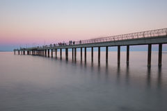 Lorne Pier at Sunset Stock Photography