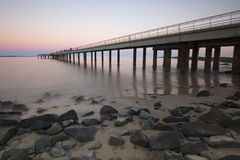 Lorne Pier at Sunset Royalty Free Stock Photo