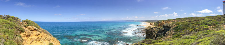 Lorne Queenscliff coastal reserve, panoramic aerial view, Victor Royalty Free Stock Photo