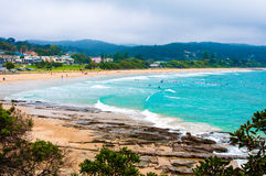 Lorne strand på den stora havvägen, Victoria tillstånd, Australien Royaltyfria Foton