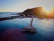 Lorne - Sunset | Aerial Stock Photo