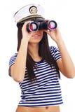 lornetek dziewczyny target612_0_ Zdjęcie Stock