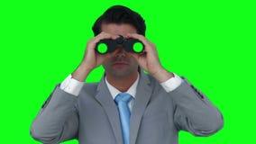lornetka wyglądać biznesmena zbiory wideo