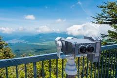 Lornetki dla widoku punktu przy Mt fuji Zdjęcie Stock