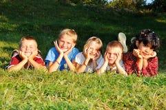 loro felice dei bambini di attività Immagine Stock