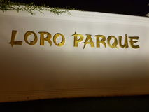Loro Parque. Sign Stock Photo