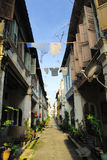 Lorong Panglima, Ipoh. Lorong Panglima (Panglima Lane), or better known locally as Concubine Lane (or Yi Lai Hong in Cantonese), is a narrow, uneven path, in Old Royalty Free Stock Photography