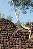 Loropeni ruins in Burkina Faso. The Loropeni stone walls, the unesco site in Burkina faso. The ruins have recently been shown to be at least 1,000 years old royalty free stock images