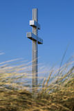 Lorraine cross at Juno Beach. The Lorraine cross at Juno Beach, France stock images