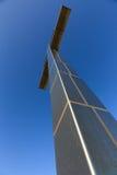 Lorraine cross at Juno Beach. The Lorraine cross at Juno Beach, France royalty free stock photos