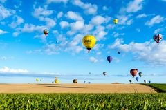 Lorraine Mondial Air Balloon 2015 Royalty Free Stock Images