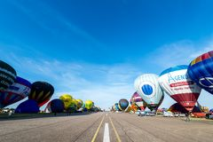 Lorraine Mondial Lotniczy balon 2015 Obrazy Royalty Free