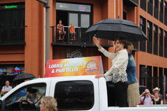 Lorrie Morgan and Pam Tillis at CMA Fest Parade Nashville Royalty Free Stock Photo