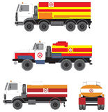 Lorries. For transportation of fuel Royalty Free Stock Photos