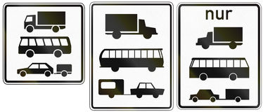 Lorries Buses And Trailers In Germany Stock Image